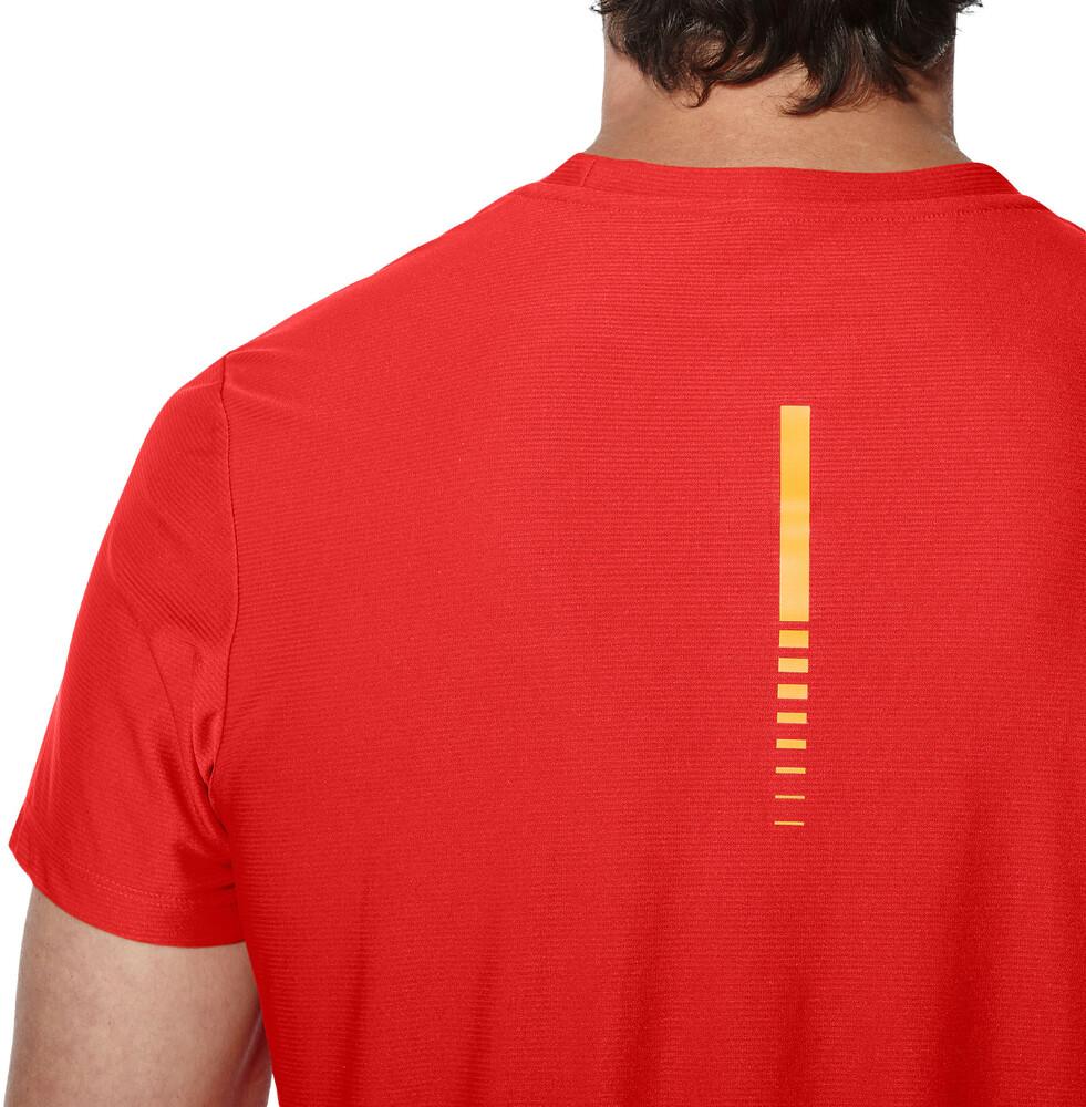 asics t shirt femme rouge